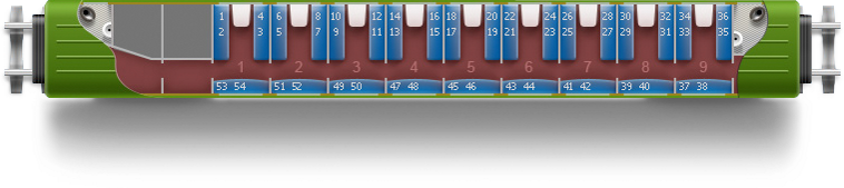 Купейный вагон (36-38 мест)